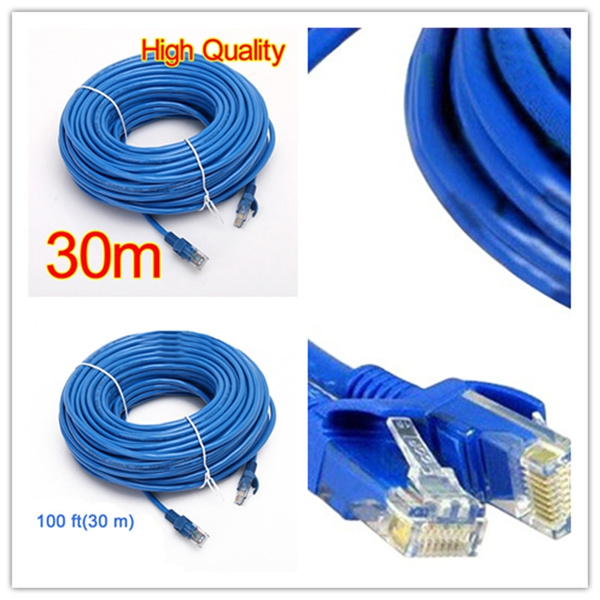 100/' FT Feet CAT6 CAT 6 RJ45 Ethernet Network LAN Patch Cable Cord 30M Blue New