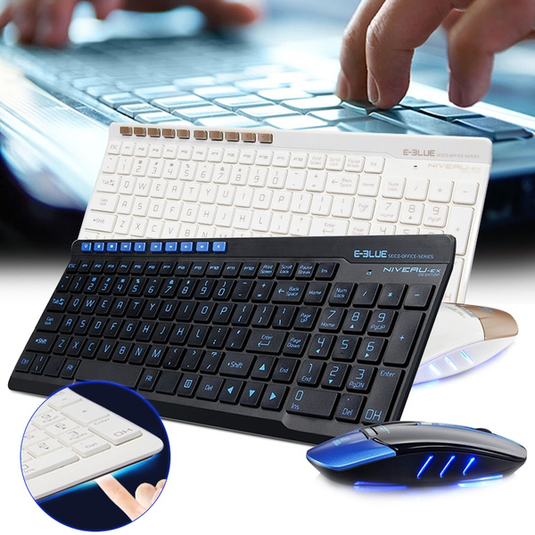 Picture of E - Blue K825 Optical Wireless Keyboard Mouse Combo Kit With Usb Receiver