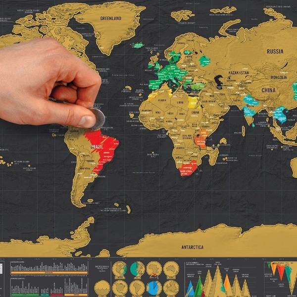 Picture of New Travel Edition Scratch Off World Map Gifts