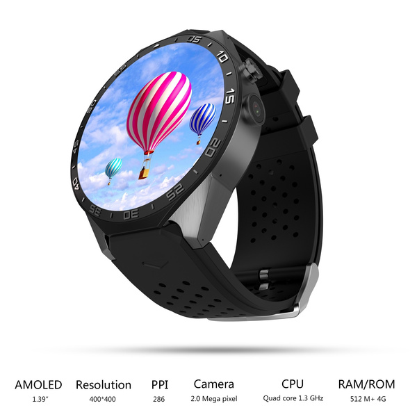 Wish | Android 5 1 Smart Watch Mobile Phone KW88 with 3G GPS