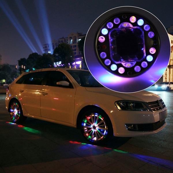 Led Per Auto Tuning.Leadtops 4pcs Lot Stunning Waterproof Solar Car Tuning Gas Nozzle Cap Lamps Rim Light Wind Fire Wheels Auto Led Flash Tyre Ce