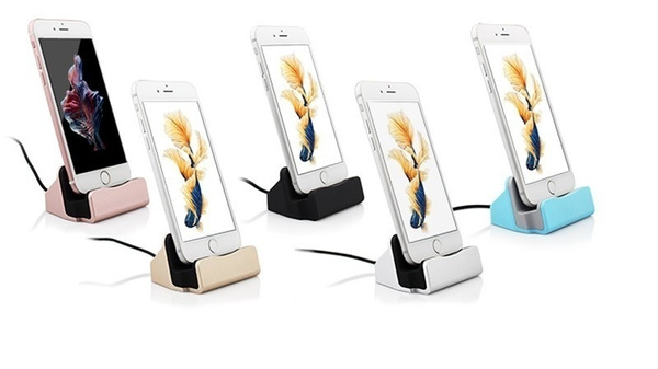 Sync Data Charging Dock Station Cellphone Desktop Docking Charger USB Cable For iPhone