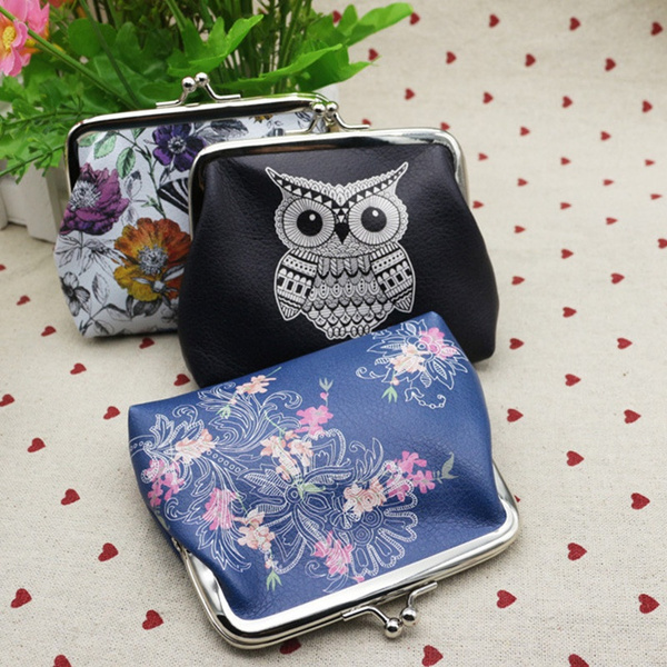 Picture of Women Cute Coin Purse Leather Character Small Wallet Girls Change Pouch Hasp Keys Bag