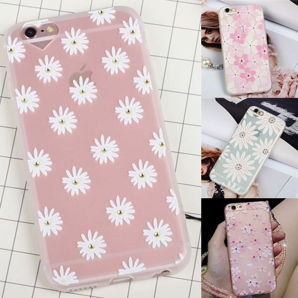 Picture of Diamond Sunflower Phone Case For Iphone 6 6plus 6s 6splus 7 7plus Fashion Silicone Soft Phone Cover