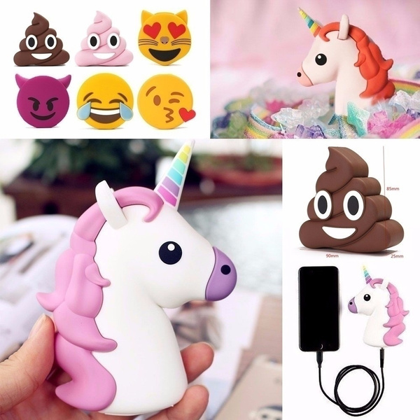 Picture of 2600mah Portable Emoji Unicorn Cartoon External Power Bank Battery Usb Charger 9 Styles To Choose