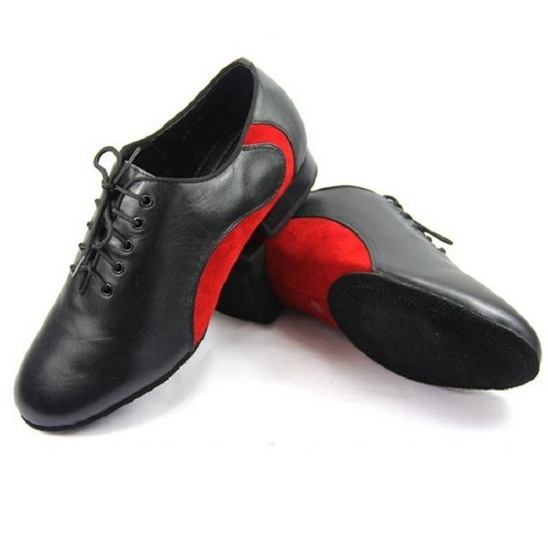 Men/'s Latin dance shoes Soft bottom shoes Genuine leather Ballroom Modern shoes