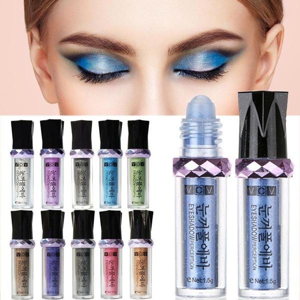 Picture of 5 Color Waterproof Eyeshadow Makeup Eye Shadow Palette Super Flash Diamond Eyeshadow With Brush