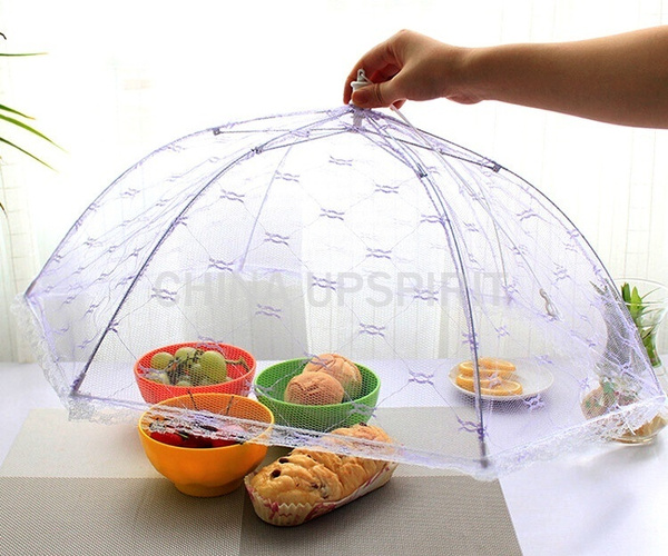 New Umbrella Style Food Covers Anti Fly Mosquito Meal Cover Lace Table Home Using Food Cover Kitchen Gadgets Cooking Tools New (Color: Multicolor)