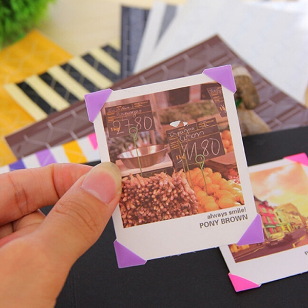 408pcs Self Adhesive Photo Corner Stickers Tape Scrapbook Album