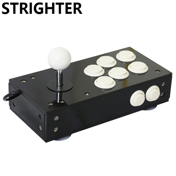 Mini usb arcade joystick for pc game 8 buttons all black pc controller  computer Game Hardware portable Joystick Consoles gift