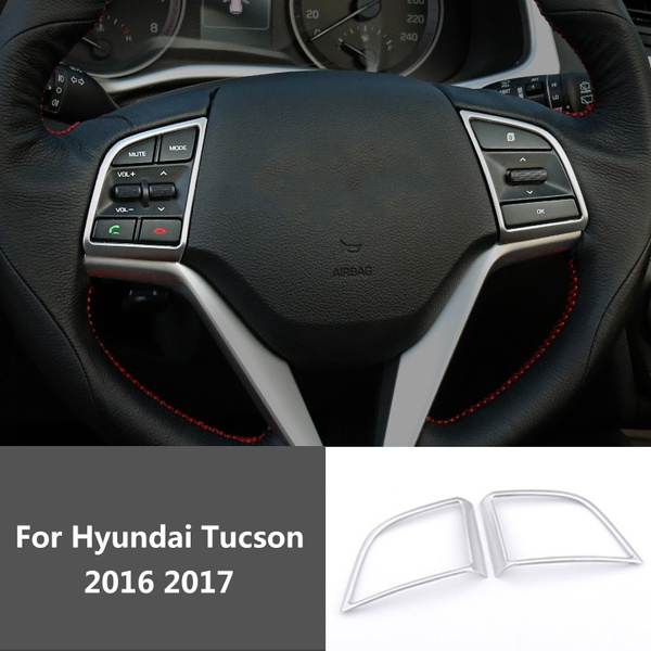 For Hyundai Tucson 3rd 2016 2017 Internal Modification Trim Car ABS  Stainless Steel Interior Frame Cover Sticker
