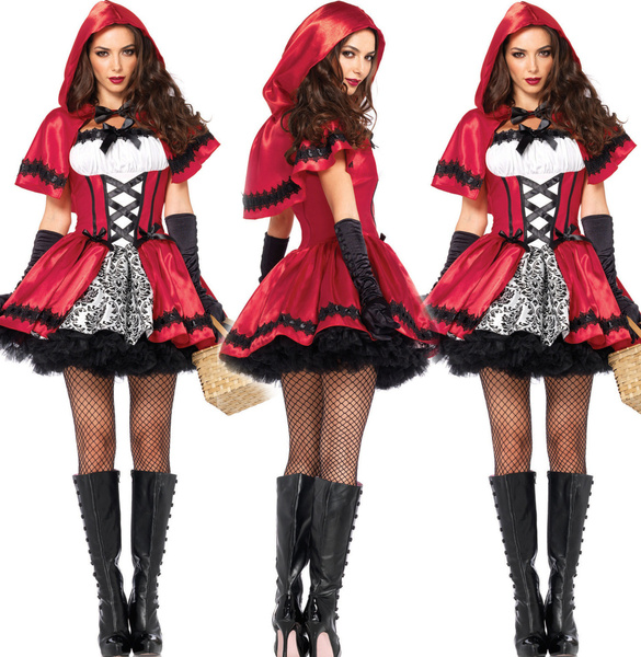 Sexy Anime Queen Halloween Costumes Plus Size Little Red Riding Hood  Princess Dresses Halloween Costumes Fun Uniforms
