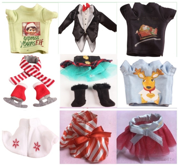 10 Style Elves Clothes Suit For Elf On The Shelf Scarf Amp Skates