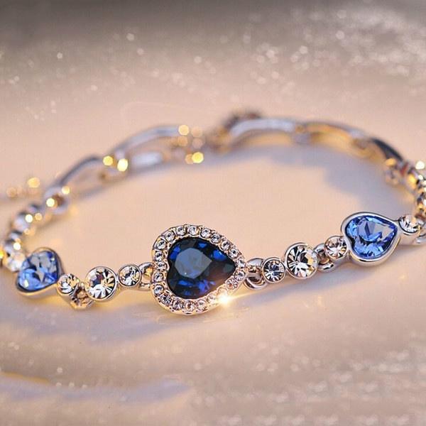 Crystal Bracelet, romanticdres, Romantic, Heart