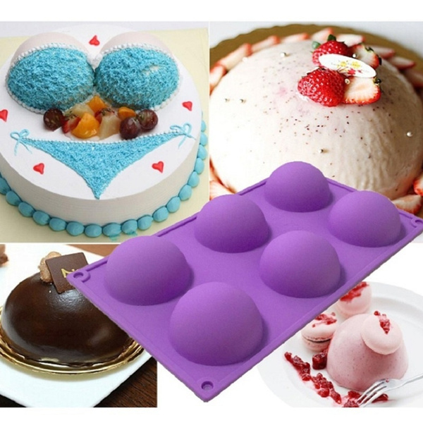 Silicone 6 Round Shape Mold Muffin Pan Jelly Cupcake Candy Mold Cake Chocolate Soap Mould Baking Tool