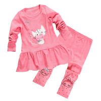 Wish | Aikobaby Baby Girls Cute Polka Long Sleeve Outfits ...