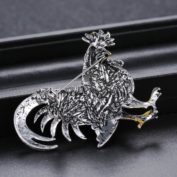 Trendy big rooster Brooch mix color crystal Rhinestone brooches animal Brooches for women fashion brooch jewelry
