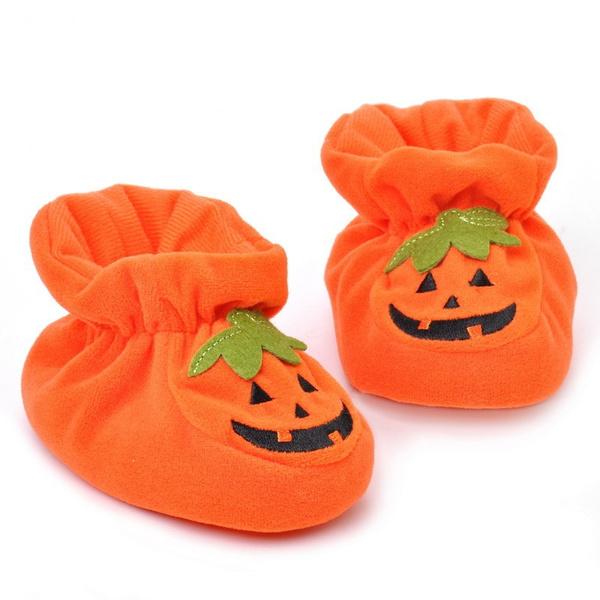 6f00124ae7fe8 Halloween Winter Gift Baby Pumpkin Shoes