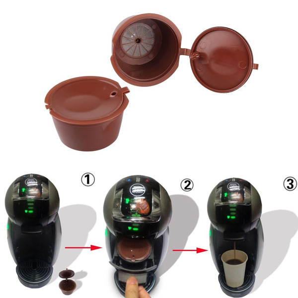 Gift  Hot Healthy Brewers Kitchen Refillable Cup Coffee Capsules Refill Filter