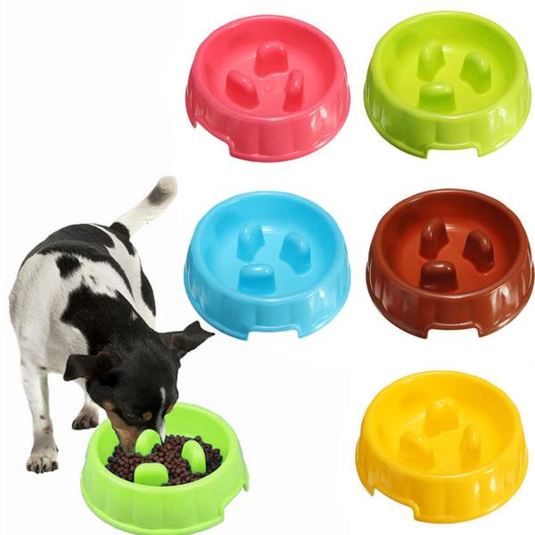 Pet Dog Cat Slow Feeder Water Bowl Puppy Anti Slip Choke Gulp Feed Bloat  Dish Fascinating