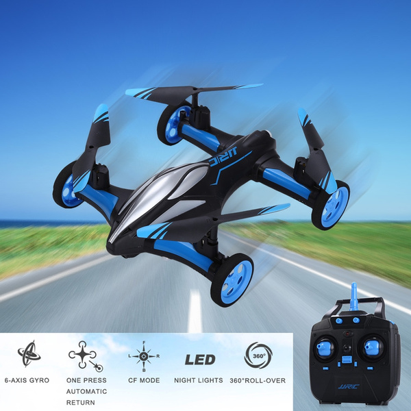 JJRC H23 2 4G RC Quadcopter Land / Sky 2 in 1 6 Axis Gyro UFO Headless Mode  / One Key Return Feature