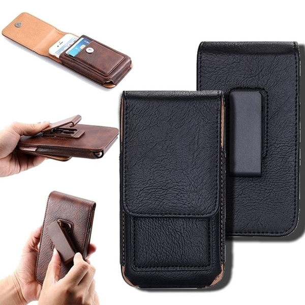 promo code 54223 3d2fc Business Luxury Leather Waist Bag Clip Belt Phone Case For Samsung Galaxy  S9 S9Plus s8 s8 plus for iPhone 6 6S Plus 5 5S SE 7 Plus For Samsung Galaxy  ...