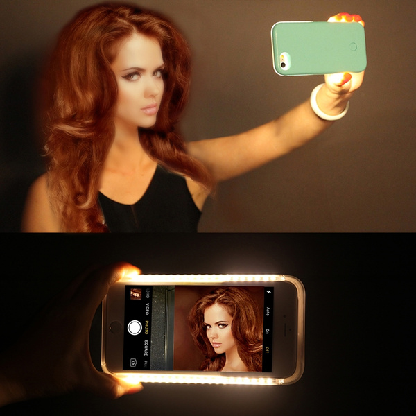 best service 4f320 f470c LED Light Up Glowing Phone Case Cover for iPhone 5 5s 6 6s 7 7Plus 7G  Selfie Luminous Cases For Samsung Galaxy S6 S7 Edge Lumineux fundas coque  capa ...