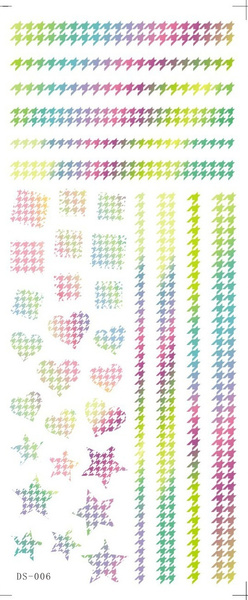 Water Transfer Foils Rainbow Stars Element Wraps Decals Manicure Nail Art Sticker
