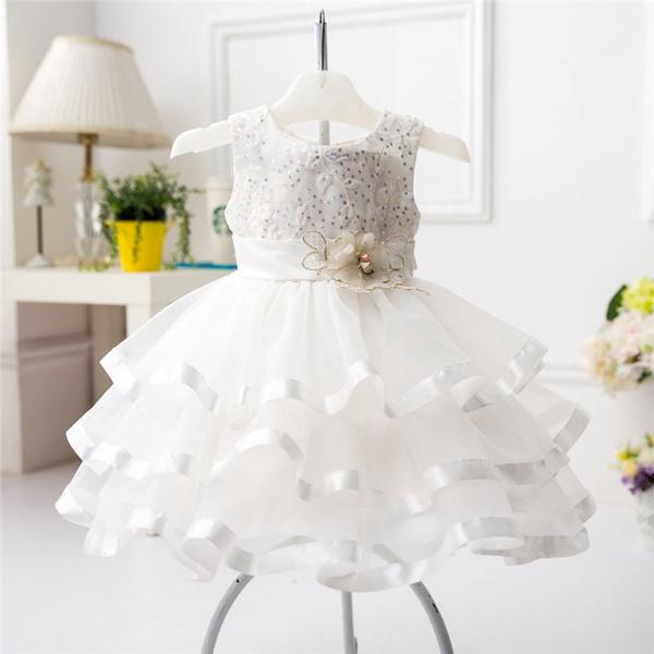 Baby Mädchen Taufkleider Blume Taufe Geburtstag Fest Kleid Hochzeit Partykleid M