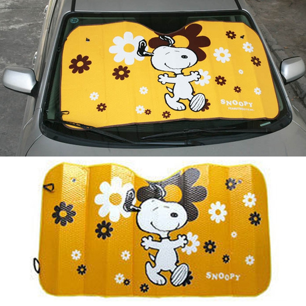 Oversized Aluminum Foil Snoopy Auto Car Sunshade Thicken Windshield Cover