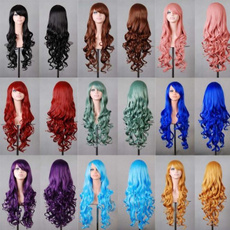 wig, Mujer, longwavywig, Cosplay