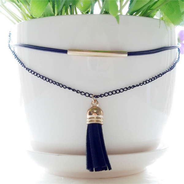 Charm New Arrival Charm Bohemia Sexy Black Leather Choker Necklace Jewelry LUF