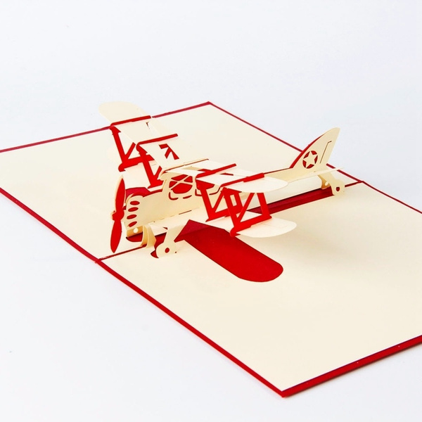 Wish airplane model 3d laser cut pop up blank holiday happy wish airplane model 3d laser cut pop up blank holiday happy birthday greeting cards gifts post cards wishes bulk wholesale 4006 m4hsunfo