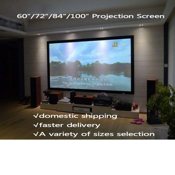 Picture of Portable 60/72/84/120 169 Aspect Ratio Manual Office Video Projection Screen For Business Education Home Theater Gaming