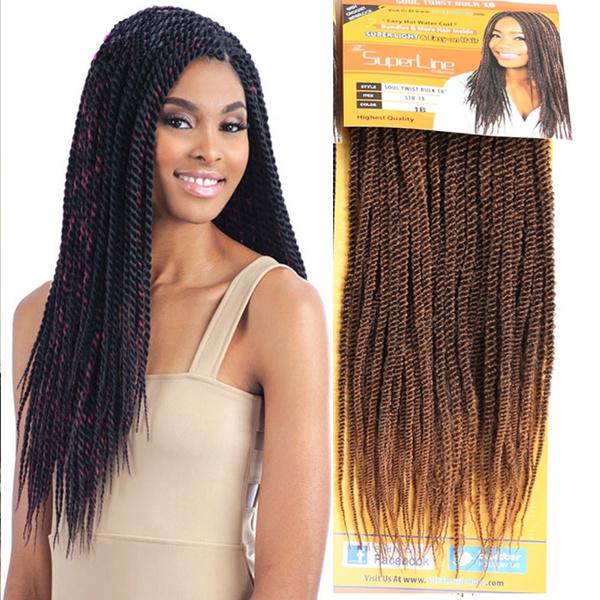 2pcs 95g Havana Mambo Twist Synthetic Hair Extensions Crochet Twist