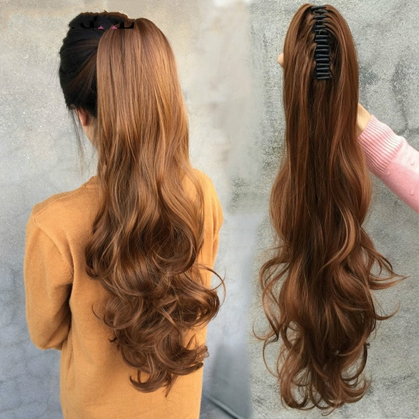Wish Humanlong Wowen Curly Clip In Ponytail Hair Extension