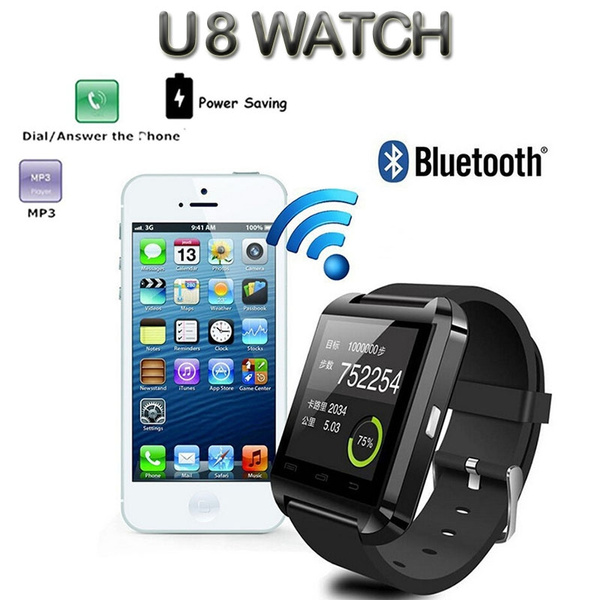 Picture of Bluetooth Smart Watch U8 For Apple Android Phone Support Camrea Men Wristwatch Pk U9 Gt08 A1 Gv18 Smartphone