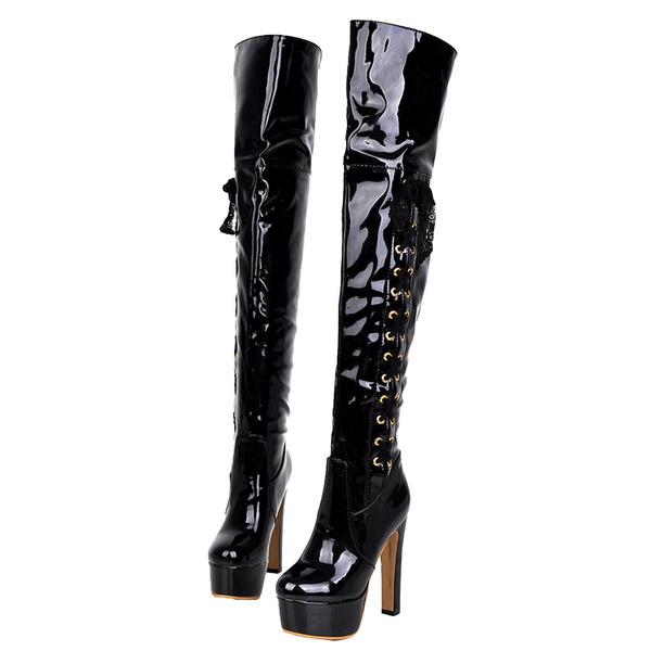 Wish High Heels Ladies Platform Vintage Mens Crossdresser Shoes Boots