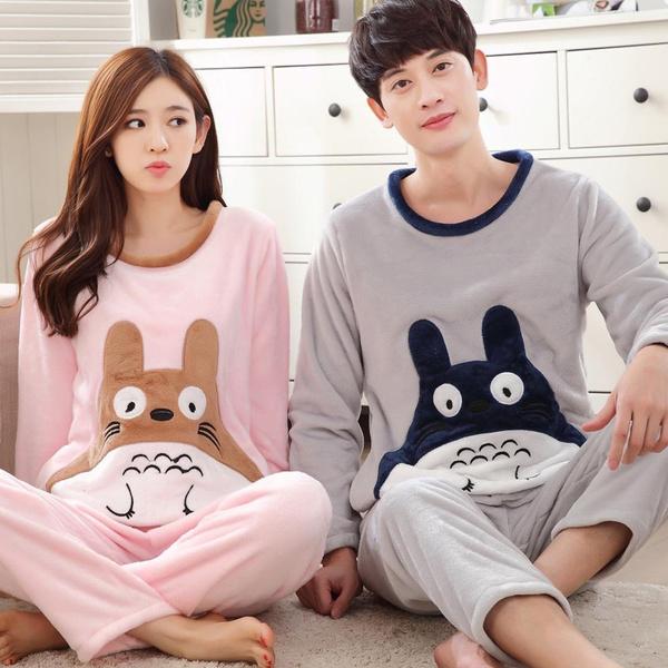 71449fff5 Winter Totoro Couple Pajama Sets Adult Onesie Pyjamas For Women Men ...