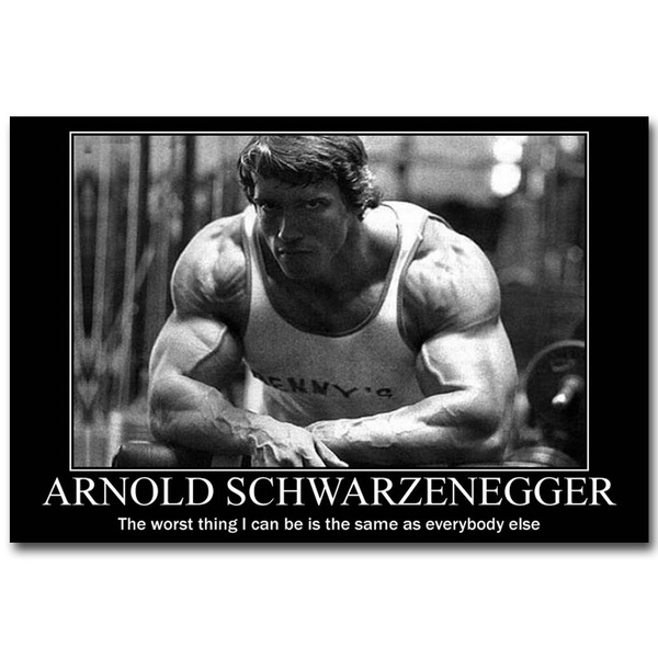 Arnold Schwarzenegger motivational quote canvas wall art picture