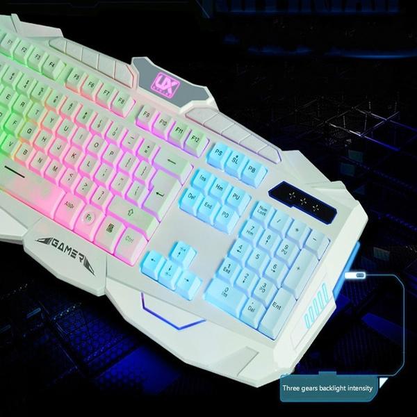 Wish | Uthink Colorful Illuminated Rainbow Backlit Keyboard Usb ...