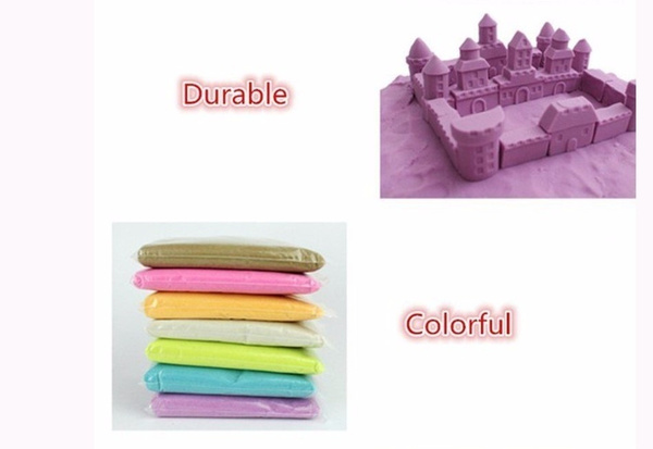 50g/bag Kinetic Dynamic Educational Sand clay Amazing DIY Indoor Magic Playing Sand Children Toys Mars Space Sand seven colours