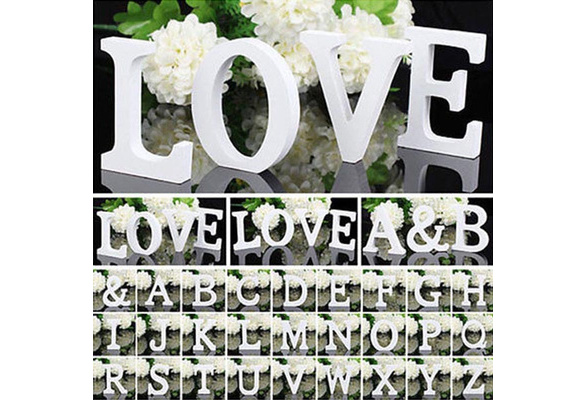 3D Wooden DIY Letter Alphabet Word Free Standing Wedding Party Table Decor