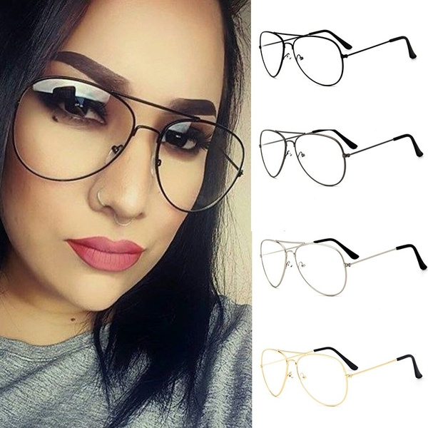 Picture of Korean Fashion Vintage Retro Eyeglasses Classic Metal Clear Lens Glasses Unisex Men Women Summer Eyewear Sunglasses