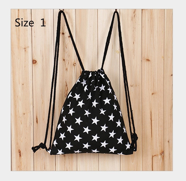 3f74fbcedaaa Drawstring Backpack Handbag Gym Canvas Travel Swimming School Beach Bag  Rucksack Shopping Bag High Quality Bag