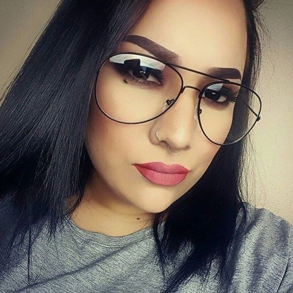 wish punk style fashion gold frame clear glasses myopia clear frame glasses women men spectacle frame clear lens optical punk glass lunette unisex eyewear