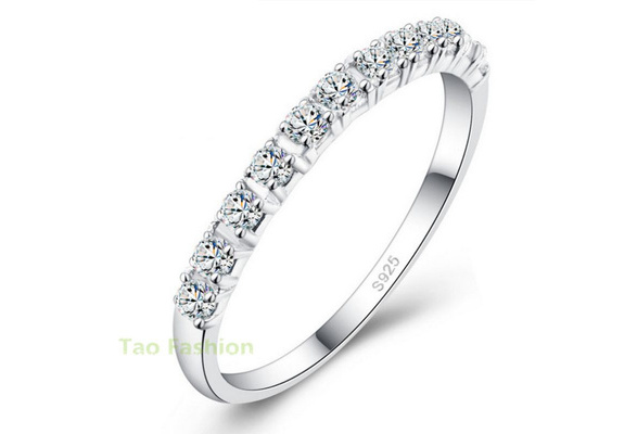 New Design Wedding Rings Women 925 Sterling Silver Simulated Diamond Ring Jewelry