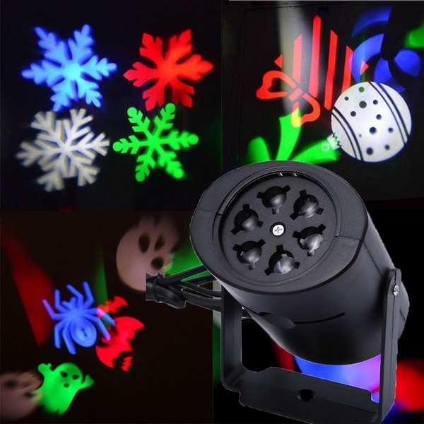 Picture of Rotating Projector Led Light Party Light Dj Ktv Pub Bar Xmas Stage Lighting Bulb 4 Cards Snowflake Heart Bowknot Gifts