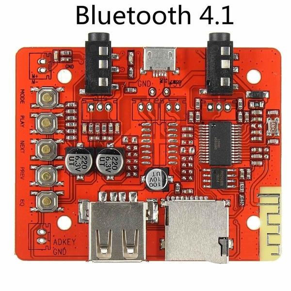 Wireless Bluetooth 4 1 Aux Car Audio Amplifier Module Board Usb Tf