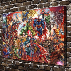 dcandmarvelcomic, Marvel Comics, art, Home Decor